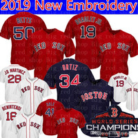 ad05eac86aa 50 Mookie Betts Boston 19 Jackie Bradley Jr. Red Sox Jersey 16 Andrew  Benintendi 28 J.D. Martinez 34 David Ortiz 41 Chris Sale Baseball