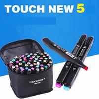 Touchfive 30/40/60/80/168 Cores Definir Dupla Cabeça Arte Marcador Caneta de Design de Animação Pintura Esboço Copic Marcadores Caneta para Desenho C18112001