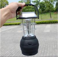 36 LED Camping Lantern Rechargeable Camping Lumière LED Lampe de poche Torche Tente Lampe Énergie Solaire Lumière Randonnée En Plein Air Accesories