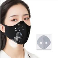 Ciclo del deporte de la mascarilla máscaras camino de la montaña de la bicicleta de la media cara ajustable, PM 2,5 respirador anti-polvo, máscara de filtro partícula