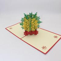 Hot 3D Pop Up Copo de nieve de Navidad Tarjetas de felicitación Cumpleaños Boda Navidad Año Nuevo Aniversario Evento Fiesta Tarjeta de invitación