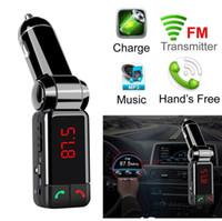 5V / 2A LCD U disk Player şarj çift USB BC06 Bluetooth Araç Kiti Bluetooth Kablosuz FM Verici MP3 Çalar Kulaklık USB şarj cihazı
