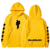 Mode Billie Eilish imprimé hommes sweat-shirt capuche sport Casual Sweat à capuche Hip hop streetwear overs hoodies tops blancs unisexe