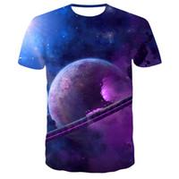 Zomer Stijl Mannen T-shirt 3D Print Star Galaxy Universe Ruimte Afdrukken Kleding voor Mannen Korte Mouwen Top T-shirts T-shirt S-6XL