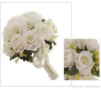 New Wedding Bridal Bouquets Handmade Flowers Rose bridesmaid...