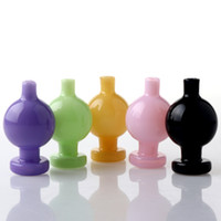 Renk Cam Kabarcık Carb Kap ile 25mm / 28mm OD Topu Karbonhidrat Caps Caps Caps Caps için Beveled Edge Quartz Banger Çivi Cam Su Bongs Dab Rigs