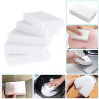 La melamina blanca Esponja magia esponja melamina del borrador del limpiador de la Oficina Cocina Baño Limpieza Nano Esponjas gratuito Sea envío rápido DHA460