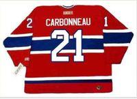 Пользовательские Мужчины Молодежные женщины Урожай # 21 Карбонно Монреаль Канадиенс 1993 CCM Hockey Джерси размер S-5XL или пользовательские любое имя или номер