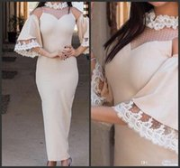 2020 New Custom Made Elegant Champagne Evening Dresses Elastic Satin 3/4 Sleeveless 2017 Illusion Prom Dresses Long Dresses Evening Wear 417