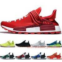Pharrell Williams NMD Hu Trail Running Chaussures Hommes Femmes 2020 Amour Autres Infinie Espèce BBC Red Plaid 3M réfléchissant Chaussures de sport Taille 36-47