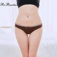 Rebantwa 5 adet / lot Kadınlar pamuk külot Tangalar Kız Külot Bayanlar bikini G string iç çamaşırı kalitesi İç Knickers