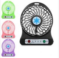 Ventilateurs Mini portables Testé rechargeable Ventilateur Cooler Mini Ventilateurs de bureau Ventilateur USB rechargeable avec le paquet détail PC Ordinateur portable LT653