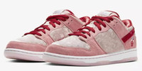 StrangeLove x SB Dunk Low Velvet Pink Sports Sneakers Men Wo...