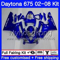 Body For Triumph stock blu Daytona 675 2002 2003 2004 2005 2006 2007 2008 322HM.27 Daytona 675 Daytona675 02 03 04 05 06 07 08 Kit carena