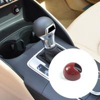 Car Styling console del cambio manico capo della copertura della fibra di carbonio Rosso Adesivo per Audi A3 8V 2014-2018 Accessori Interni