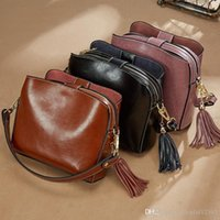 Sexy2019 Tassel Messenger Bags Genuine Leather Designer Lady...