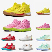 2019 Chegada Nova Mens Kyrie Shoes TV PE tênis de basquete 5 para 20th Anniversary SpongenbspBob x Irving 5s desenhador Sports Sneakers
