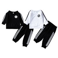 Baby Boys Girls Sport Clothing Stripes Outfits Black White C...