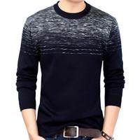 La nuova marca Mens Wear Slim Fit Maglieria Designer Pullover a righe Men Dress Maglione inverno caldo di spessore Jersey Maglione fatto a maglia