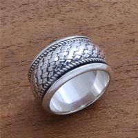 Joyería de plata del infinito entrelazados Cruz nudo celta mujeres anillo de compromiso de boda anillos de banda Tamaño 5-12
