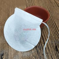 Ronda creativa forma de bolsitas de té, bolsas de filtro desechables de papel grado alimenticio bolsas de café, relleno de 1-4g
