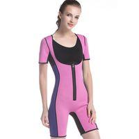 7ec06f37a5 Hot Shapers Bodysuit Sauna Suit Waist Trainer Corsets Neoprene Body Shaper  Women Slimming Full Shape Underwear Shapewear C19041201