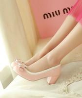 Новое прибытие горячие продажа спец супер мода приток благородный Sweety мелкий рот круглая голова Принцесса лук студент один каблуки обувь EU33-43