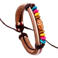 Surfer Candy Color Natural Wood Beads Female Charm Bracelet ...