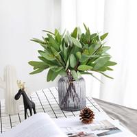 7 unids / lote Flores de Seda Artificial suculentas hojas de eucalipto planta Verde habitación fresca Adorno accesorios de fotografía Decoración para el hogar Regalo