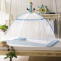 Москитная нетней летняя младенческая детская кроватка сетчатой кроватью насекомых Cradle складные рожденные постельное белье защитная сетка
