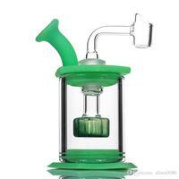 """4.5 """"Ensamble el percolador del cabezal de ducha de vidrio Bong de vidrio. Limpie fácilmente las plataformas con un tubo de silicona de 4 mm."""