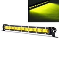 12.6 بوصة 36W LED ضوء العمل بار ماء الأضواء الأصفر DC12-24V لشاحنة الطرق الوعرة سيارات الدفع الرباعي