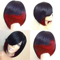Hot sales fashionable mixcolor short straight wigs for women