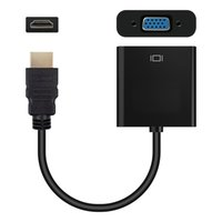 Alta calidad HDMI a adaptador convertidor de VGA de video 1080P Adaptador de audio digital a analógico Macho a hembra para PC Portátil Proyector de tableta