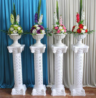 İçi Boş Çiçek Tasarım Roma Sütunlar Beyaz Renk Plastik Pillars Yol Düğün Dikmeler Olay Dekorasyon Malzemeleri Atıf