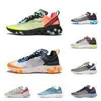React Element 87 shoes Reagir Elemento 87 homens mulheres moda runining sapatos volt racer rosa total laranja sail designer Sneakers esporte Trainer tamanho 36-45