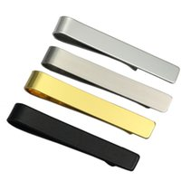 Fashion Gentleman Slim Collar Stainless Steel Tie Clip Black...