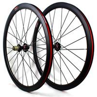 من ألياف الكربون الطريق دراجة قرص الفرامل العجلات 38MM 50MM الفاصلة 60mm دراجة أنبوبي العجلات 700C 3K مات المطلة عرض 25MM