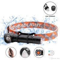 多機能充電式LEDヘッドランプLED懐中電灯CREE XML-T6 4000LMヘッドライトは、懐中電灯および作業灯として使用できます。