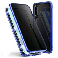 For Huawei P20 P30 Magnetic Case Privacy Metal Phone Case Co...