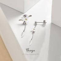 Thaya été fleurs Ensembles de bijoux en argent 925 Natural Shell Bague Boucle d'oreille Sets pour Original Design Femmes Bijoux CX200623