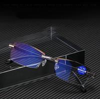Дешевая Безрамная площадь Очки для чтения для мужчин Женских Анти синего света Компьютерных очки Far Sight Presbyopia чтение очков +1,0 - + 4,0