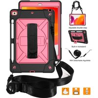 Antichocs Armure Robot Silicone Case Full Body PC Epaule iPad 7 10.2 Pro 9.7 2018 Air2 6 Mini 4 5 Samsung Galaxy Tab A 10.1 T510 T515