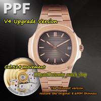 Eternity 2021 PPF V4 Yükseltme Sürümü THK 8.6mm CAL.324 S C Otomatik 5711 1R-001 Erkek İzle Degrade Dial 18 K-Rose-Gold Case Sport-Saatler