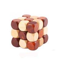 Forma 3D Puzzle de madeira Novelty Brinquedos Educativos Brain Teaser QI Mind Game Para Crianças Adulto Cobra