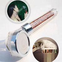 Yüksek Kalite Duş Başlığı Spa Anyon Duş Filtre Kafa Led Sıcaklık Sensörü Duchas ABS Banyo Aksesuarları