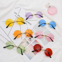 패션 눈이 부시도록 멋지게 컬러 선글라스 레트로 전체 작은 라운드 프레임 장식 안경 인과 여성 여행 원형 안경 TTA-1135