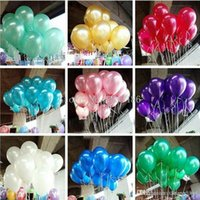 httoy New 100pcs lot 10 inch1.2g Latex balloon Helium Round balloons Multicolor Thick Pearl balloons Wedding Party Birthday Balloons