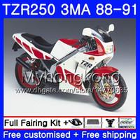 키트 YAMAHA TZR250RR 용 TZR-250 TZR 250 88 89 90 91 본체 빨간색 광택 프레임 244HM.33 TZR250 RS RR YPVS 3MA TZR250 1988 1989 1990 1991 페어링