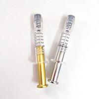 1 ml Luer-Lock-Luer Kopf Glasspritze mit Mess Mark Metall-Dreh Plunger 1cc Injektor für Vaporizer Cartridges